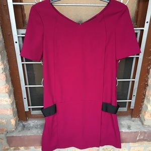 The Kooples berry pink banded hip dress large